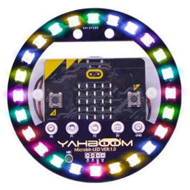 Micro:bit Programmable Expansion Board  With Voice Control Colorful LED RGB Lights DIY Kit For Arduino/51/STM 32 Control Board