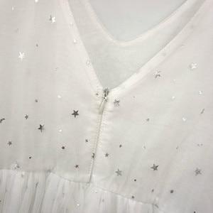 Image 5 - 새로운 2020 여름 메쉬 아이 소녀 드레스 아이들을위한 레이스 드레스 아기 공주 드레스 별 어린이 귀여운 드레스 웨딩, #8011