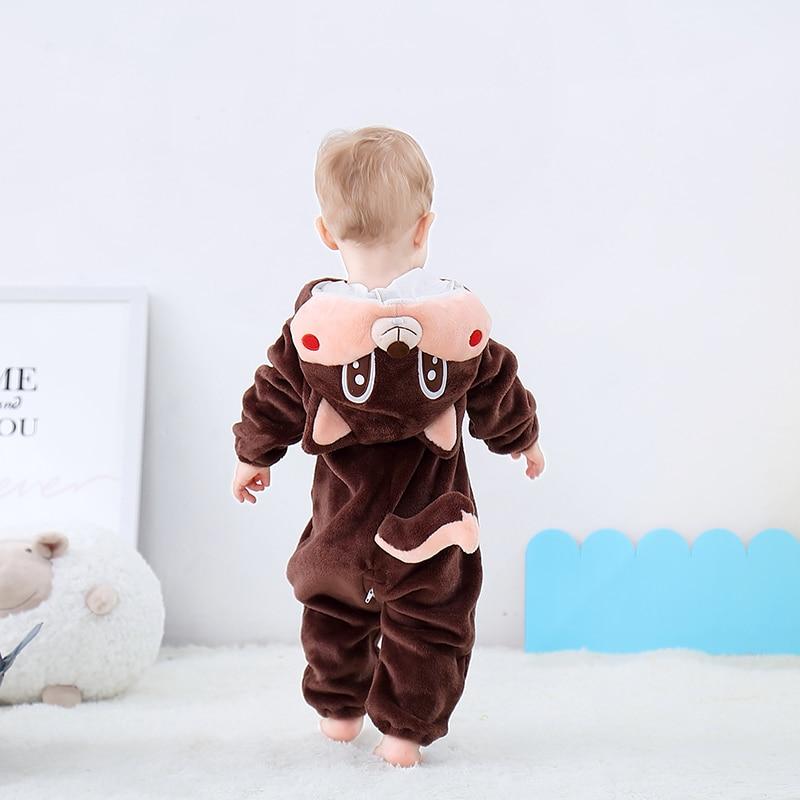 Image 5 - Newborn Baby Onesie Romper Cute Squirrel Baby Girl Boys Clothes Kigurumis Rompers Kid Infant Jumpsuit Warm Costume 0 2 years oldRompers   -