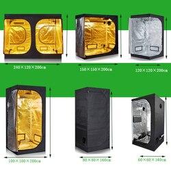 Grow tent 50/60/80/100/120/150/240CM Groeien doos 600D Indoor kweekruimte voor hydrocultuur kas plant verlichting Tenten