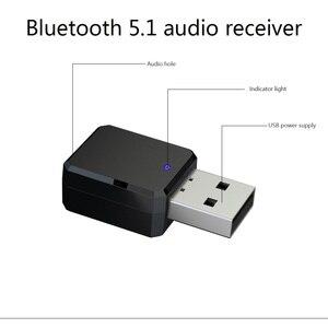 Image 2 - 2 In1 Bluetooth 5.0 ses alıcısı verici kablosuz adaptör Mini 3.5mm AUX Stereo Bluetooth verici TV PC için araba çift