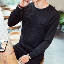 Men Sweatshirts Black 2019 New Arrival Spring And Autumn Male Coat Teenager Boy 3D Pattern Korean Style Plus Size 4XL 5XL H21