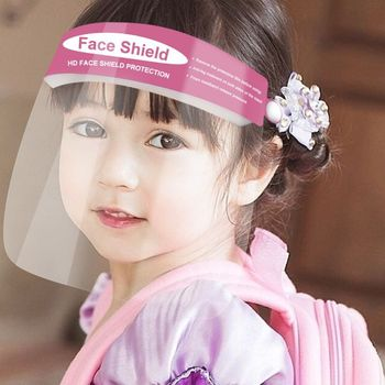 Transparent Face Shield For Kids Fog-proof Adjustable Dust-proof Protective Face Mask Rotatable Head-Mounted Full Face Masks