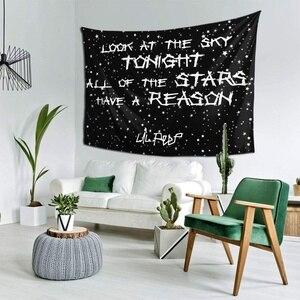 Настенный гобелен с изображением Лила Look At The Sky открытым хиппи гобелен настенный для Гостиная Спальня Общагу домашний декор 150x130cm
