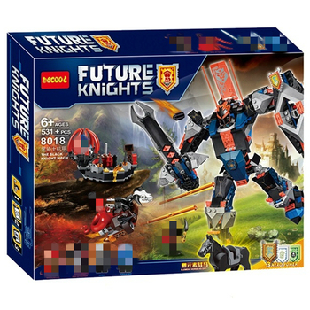 Nuevo 531 Uds Nexoes Caballero Negro Mech de bloques de construcción 70326 Nexus Saber Robots de juguete para los niños