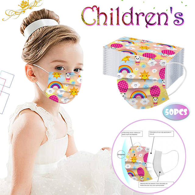 Disposable Face Mask Fast Delivery Children Headband Mask 3 Layers 50PCS