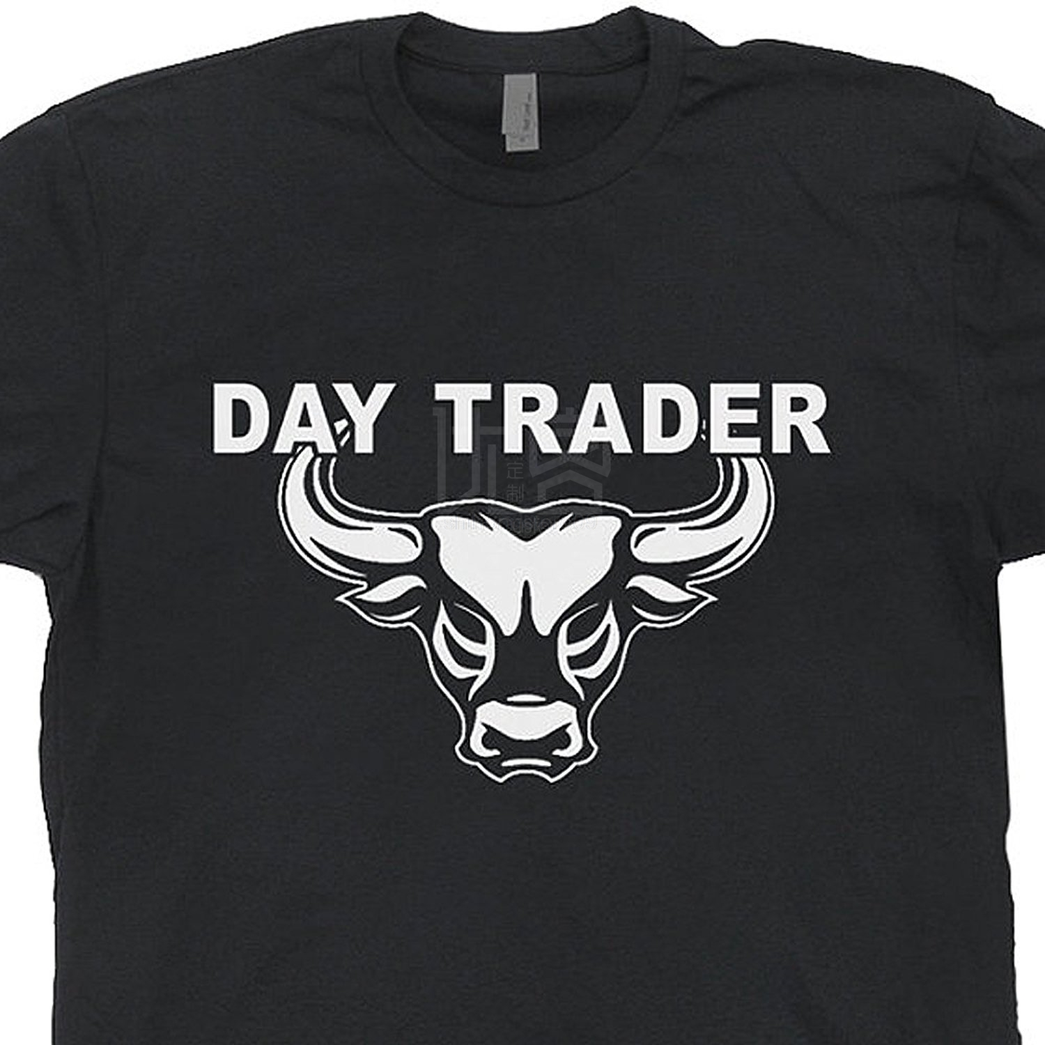 2019 Day Trader T Shirt Bitcoin Shirts Wall Street Mad Stock Market Money Trading Tshirt Forex Book Guide Wall Street Bull Tee image