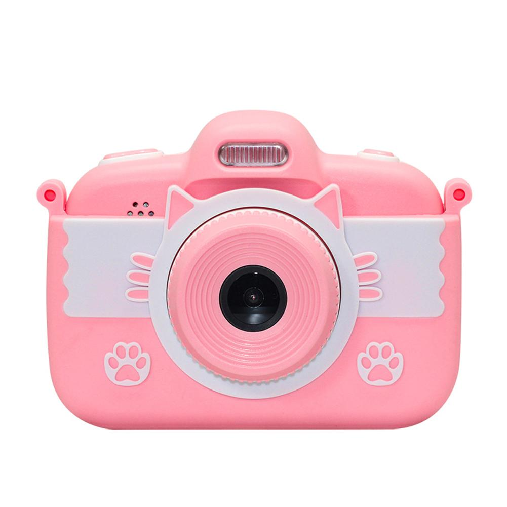Portable Children 1800W HD 1080P Digital Camera Cute Cartoon Cat Shape 3 Inches IPS Screen Mini Camera Toy Gift For Kids