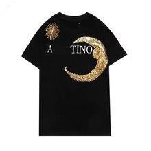 2021 21ss nova famosa marca t camisas topos designer com botão carta imprimir roupas de luxo casual 100% algodão