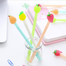 Strawberry Pineapple Series Gel Pen School Supplies Office Stationery Black And Blue Ink 0.5mm Small Fresh 1PCS