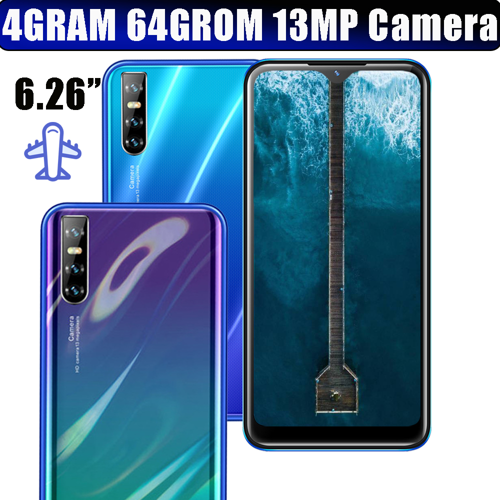 Глобальная версия смартфонов с 4G ОЗУ, четырёхъядерный процессор, HD-камера 13 МП, экран в форме капли, 8 А, 6,26 дюйма, 19:9, 64 Гб ПЗУ, разблокированна...