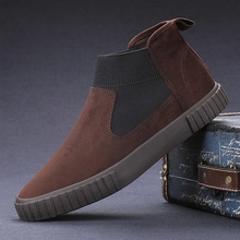 2021Men Suede Casual Shoes Leather Loafers Fashion Classic Sneakers Comfort Footwear Autumn