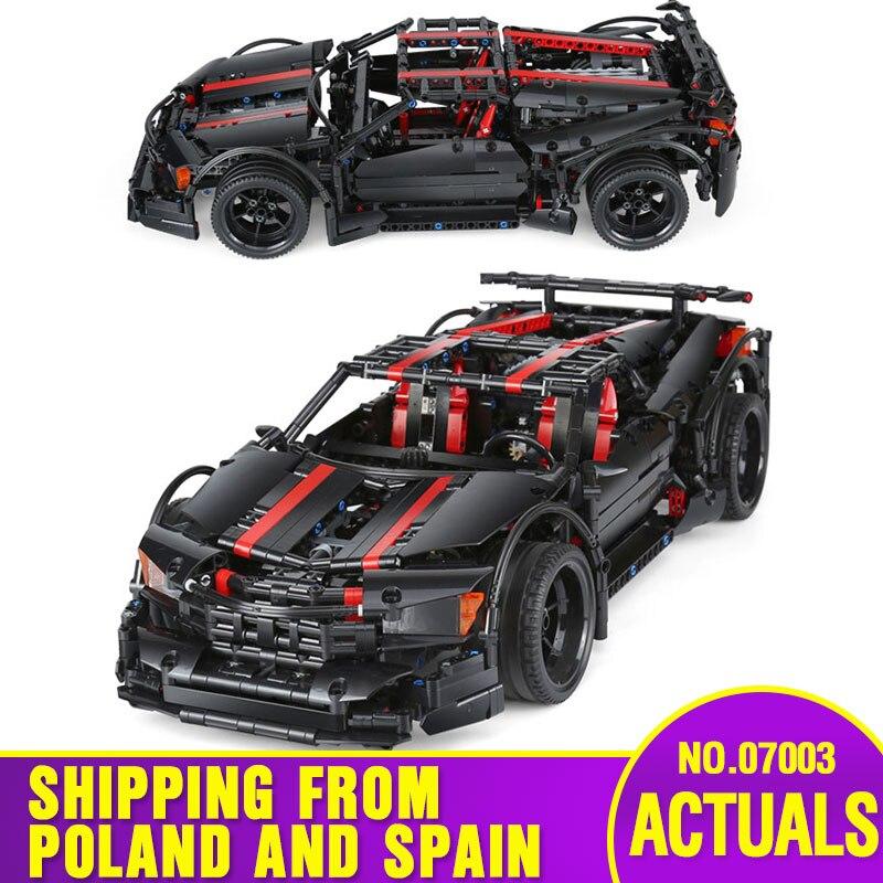 DHL 07003 Technic voiture modèle jouets le MOC Assassin X19 Sport voiture ensemble blocs de construction briques voiture modèle jouets enfants cadeaux de noël