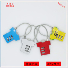 N703 New 3-digit Clothing Bag Code Lock Zinc Alloy Padlock Backpack Luggage 3 digit compact padlock assorted color