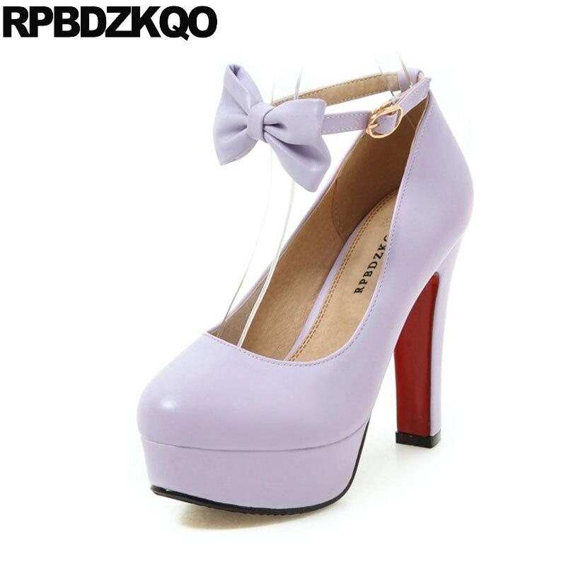 Purple Platform Lolita Shoes High Heels
