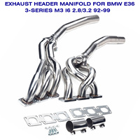 Exhaust Muffler Decat Downpipe Turbo Header Exhaust Manifold for BMW E36 323i 325i 328i M3 92 99 2.8L 3.2L