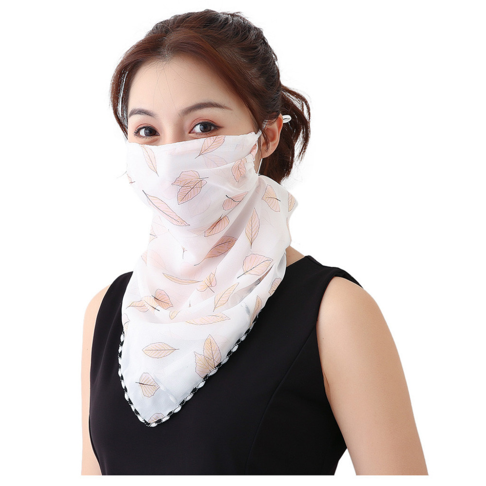 Women's Protective Washable Cotton Scarf Mask 18