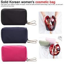 купить Women Cosmetic Bag Portable Cute Multifunction Beauty Zipper Travel Solid Makeup Bags Pouch Toiletry Organizer Holder Toiletry дешево