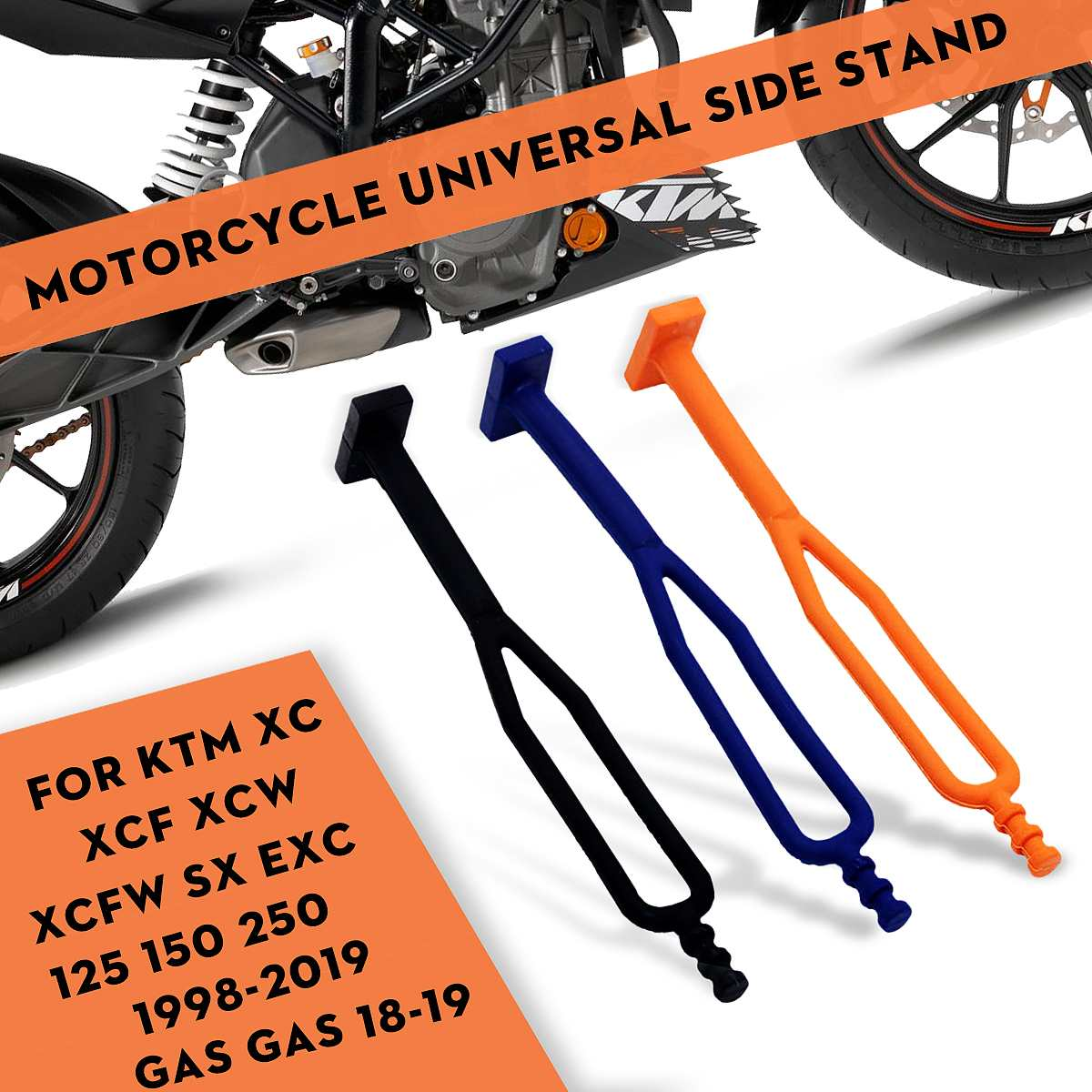 Motorcycle Parking Rack Side Kick Stand Kickstand Rubber Strap For KTM XC XCF XCW XCFW SX EXC 125 150 250 350 450 530 For GAS