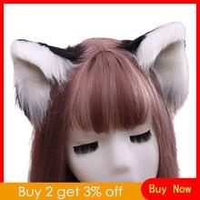 Милые пушистые заколки для волос с ушками зверя Аниме Лолита