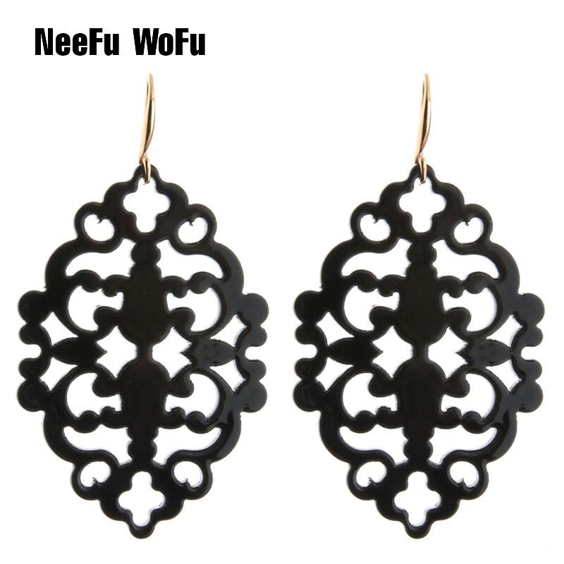 Новые висячие серьги NeeFu WoFu из смолы, ажурные очаровательные большие уши для женщин, большая Пасхальная серьга, ювелирные изделия оптом