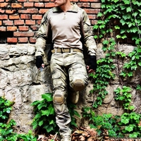 12 colors Camouflage US Army Combat Uniform Military Shirt + Cargo Pants Airsoft Paintball Tactical Cloth with Elbow Knee Pads