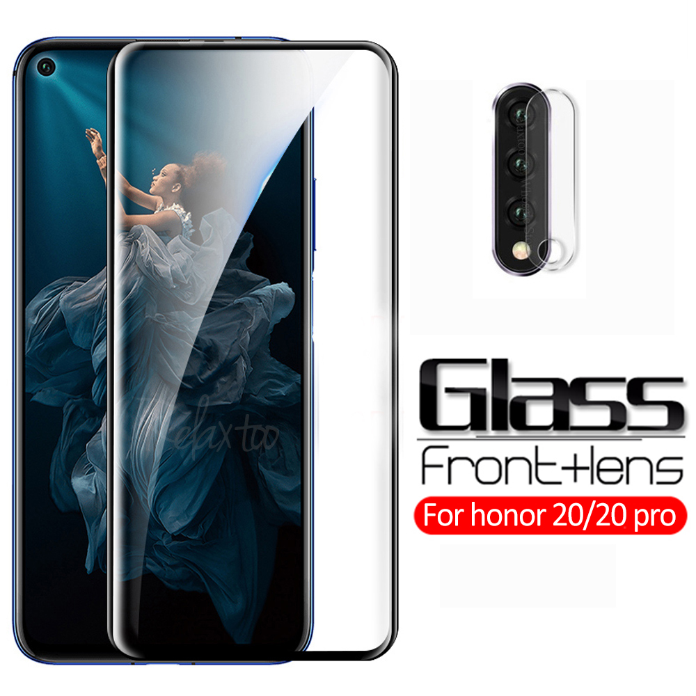 2-in-1 protective glass For huawei honor 20 YAL-L21 Back Camera lens tempered glass on honor 20 pro