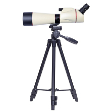 Compact 24-60x80 Spotting Scope with Tripod White HD lll Night Version Outdoor Camping Bird-watching Zoom Monocular Telescope