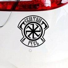 Autocollant de voiture saint russe amusant, décalcomanie en PVC argent/noir, garniture de fenêtre de voiture 15*15.2 Cm