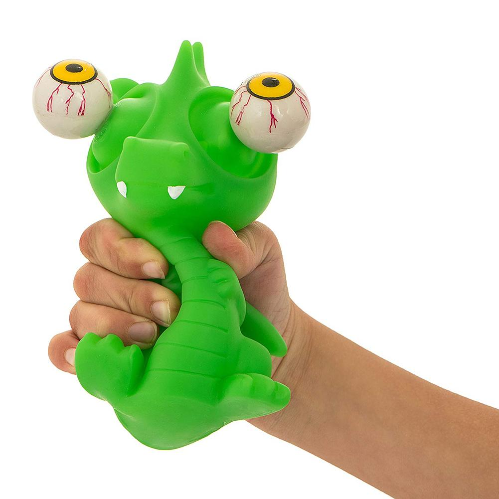 Cute Popping Frog Dinosaur With Big Eyes Stress Relief Squeeze Toy Tricky Props Soft Sticky Stress Relief Funny Gift Toy