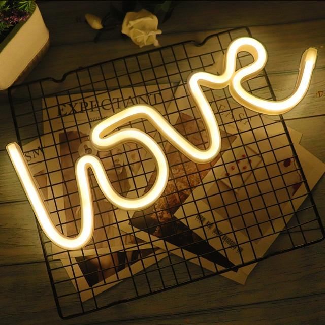 Creative led neon light sign love