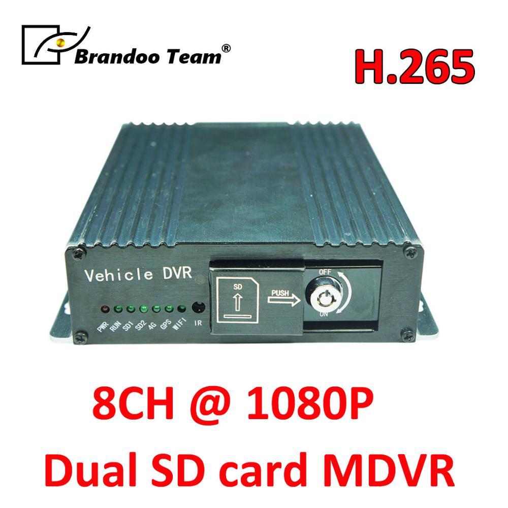 Darmowa wysyłka GPS 8CH 1080P mobilny pojazd wideorejestrator samochodowy wsparcie 2 sztuk 128GB karta SD, SD DVR do autobusu ciężarówka pojazdu użytkowania