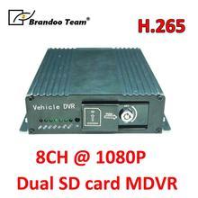 Gratis verzending GPS 8CH 1080P mobiele voertuig auto DVR ondersteuning 2pcs 128GB sd kaart, SD DVR voor bus vrachtwagen voertuig gebruik