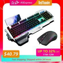 Redthunder K900 Rgb Gaming Toetsenbord Mechanische Soortgelijke Russisch Spaans Frans Meertalige Metalen Cover Voor Tablet Desktop