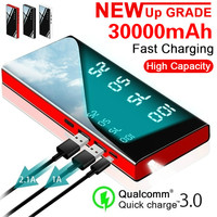 Banco de energía 30000mAh cargador portátil de alta capacidad con salida 2.1A para Samsung xiaomi iphone Cargador portátil     -
