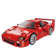 1158pcs F40 Sports Car Model Building Kits Blocos Tijolos Compatíveis Com 16054 Filme Harri Potter Com Legoland 10248 Meninos presente(China)