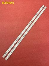 New 2 PCS 6LED LED backlight strip for Polar 32LTV2002 JL.D32061330 081AS M FZD 03 E348124 MS L1343 L2202 L1074 V2 2 6 3030 300M