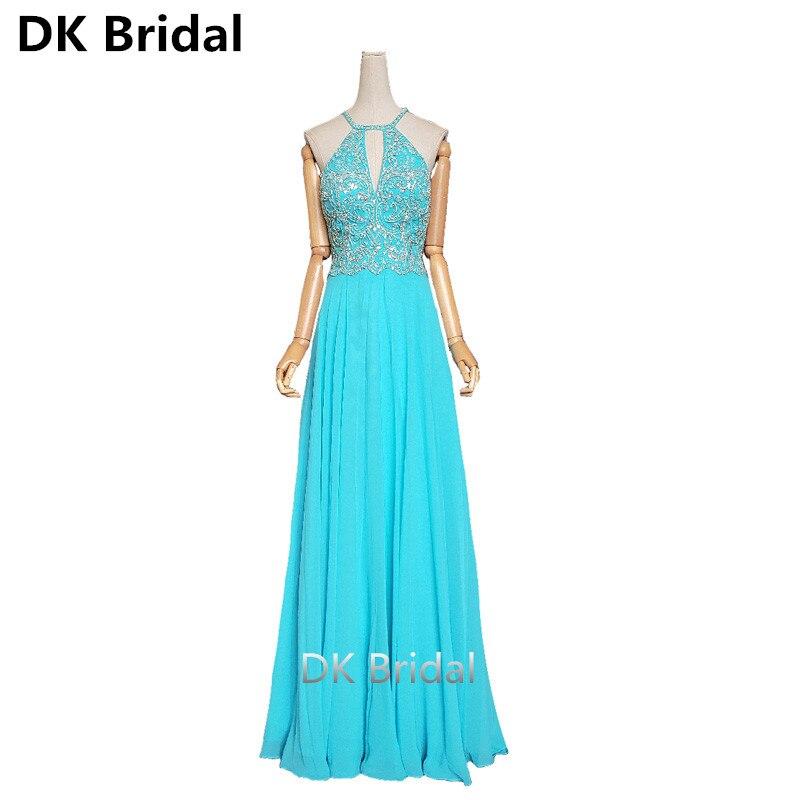 Exportation classique amérique du nord robes de soirée longue strass perlé cristal licou Criss bretelles croisées dos robe de soirée bal