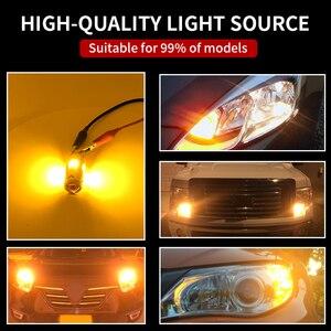 Image 5 - 2X yok Hyper flaş Amber 1156 BA15s P21W 7507 LED ampuller araba için Honda, Hyundai, Nissan, mitsubishi ön veya arka dönüş sinyali işık