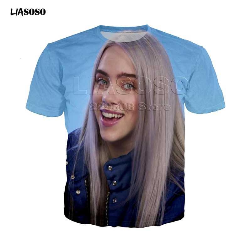 Billie Eilish T Shirt Harajuku Penggemar Putih Katun Camiseta Mujer Hot Menjual Orang Estetika Tee Top Plus Ukuran Streetwear keren