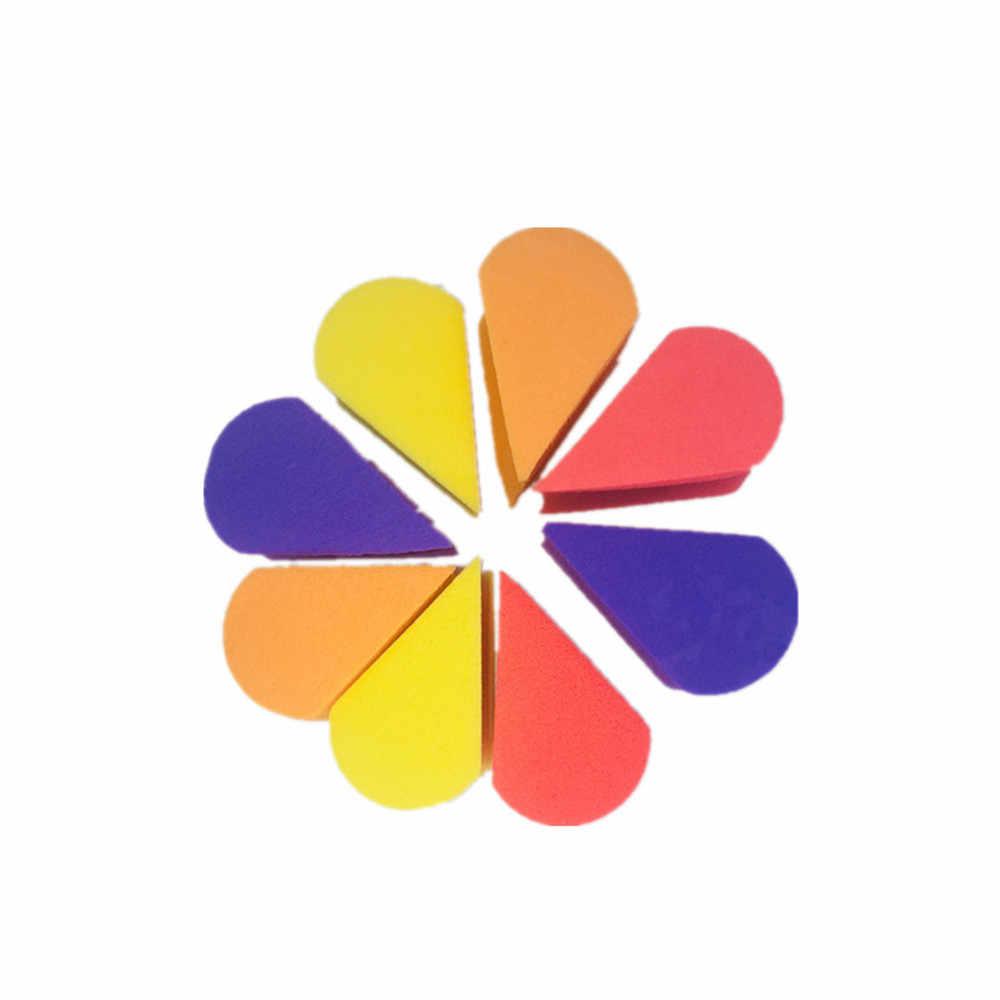 8 Cái/lốc Tam Giác Hình Màu Kẹo Mềm Diệu Mặt Vệ Sinh Miếng Lót Đựng Mỹ Phẩm Phồng Rửa Mặt Bọt Biển Rửa Mặt Dụng Cụ Trang Điểm Mới