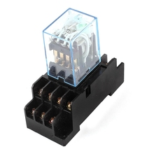 HH54P DC 12V Coil 4PDT 14 Pins Electromagnetic Power Relay DYF14A Base