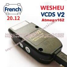 2021 wesheu vcds v2 super com 21.3 hex com 20.12 interface para vw audi skoda seat vag 20.4 inglês francês atmega162 diagnósticos