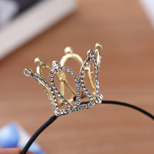 CROWN งานแต่งงาน Tiara Diamante คริสตัล Rhinestone Headband Headpiece (China)
