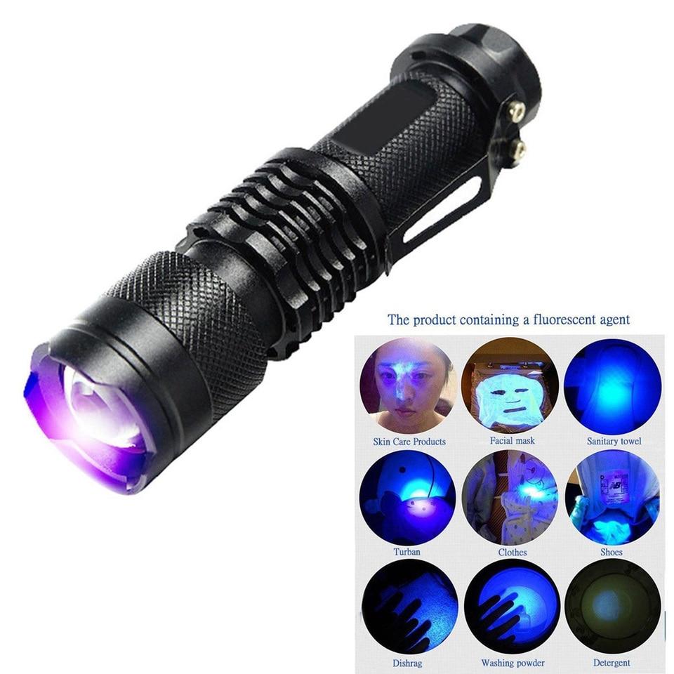 365nm UV Light Flashlight Ultraviolet Blacklight LED Lamp Pet Dog Urine Detector