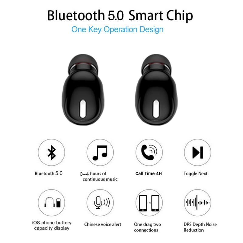 Mini X9 bežične bluetooth slušalice za slušalice sportske igraće - Prijenosni audio i video - Foto 2