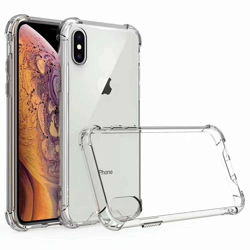 Custodia trasparente in acrilico + TPU per iphone 6 6s 7 8 Plus X XS XR 11 Pro Max Anti-Scratch Hard PC Bumper Cover