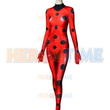 Костюм божьей коровки высокого качества 3D принт Божья коровка Косплей костюм спандекс женщина девушки зенати боди для Хэллоуина