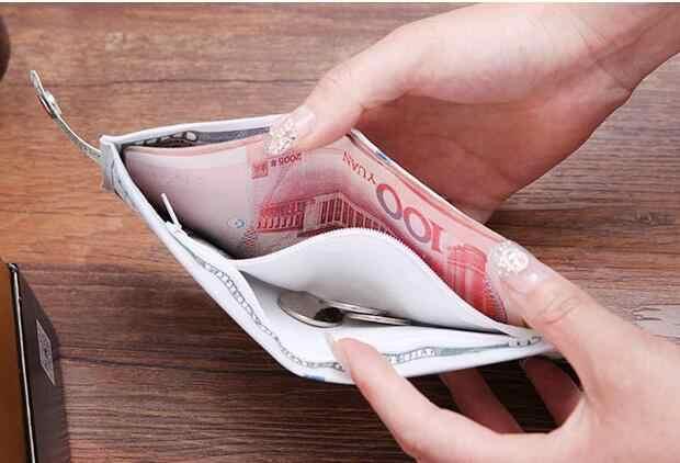 2019 Baru Uang Kertas Klip Pria Wanita Kanvas Dolar Dompet Pendek Slim Mini Dompet Lipat 2 Pelajar Kartun dengan Harga Murah hadiah Tas Koin