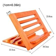 Wooden Folding Children Reading Stand 3 Gears Angle Adjustable Laptop Bracket E8BD
